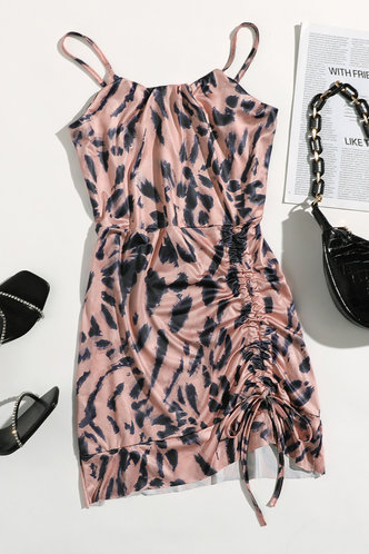 back_Karin Elsie Khaki Ink Print Plus Slip Dress