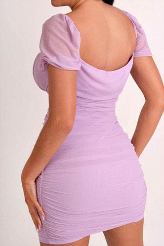 back_Debby Kuirej Purple Ruched Bodycon Dress