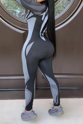 back_Elisabeth Elva Grey Colorblock Jumpsuit
