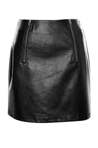 back_Donatella Black Mini Skirt