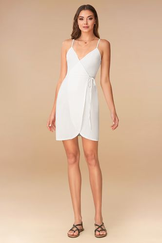 back_Butterfly White Mini Dress