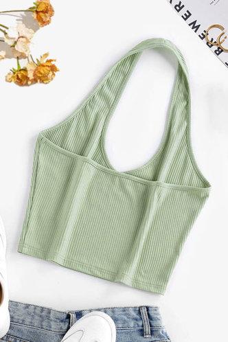 back_Dahlia Mint Green Halter Top