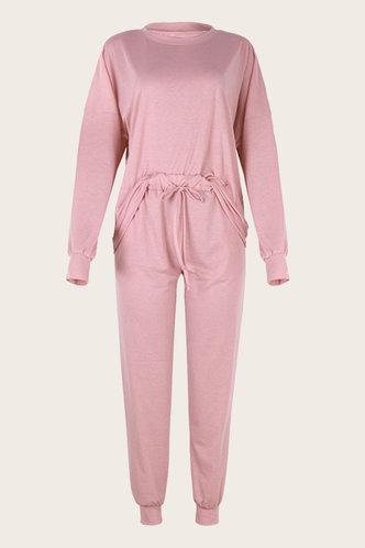 back_Snugly Style Pink Sweat Set