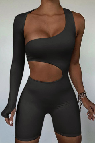 front_Aphrodite Eartha Black Romper