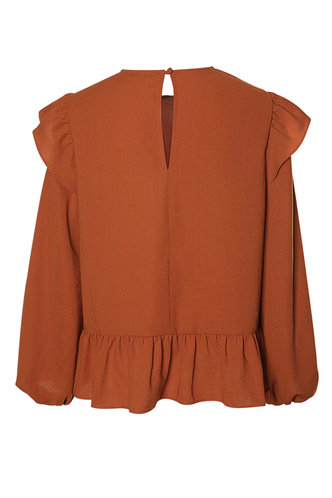 back_First Off Rust Red Long Sleeve Top