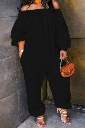 front_Catherina Eunice Black Plus Size Jumpsuit
