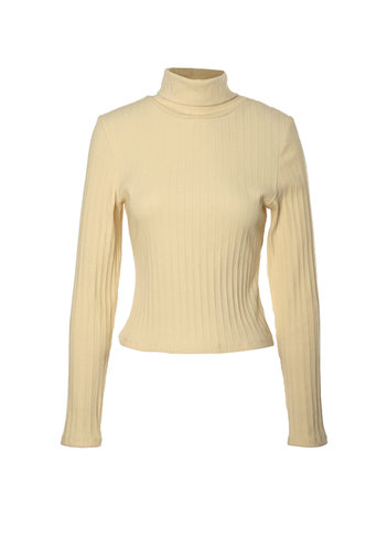 front_Turtle Power Apricot Rib Knit Top