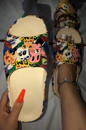 back_Alice Evangeline Multicolor Slides