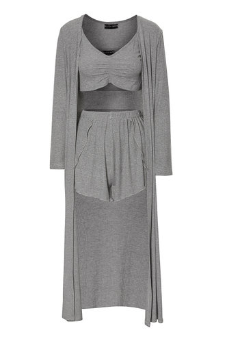 front_So Amazed Grey Robe Set