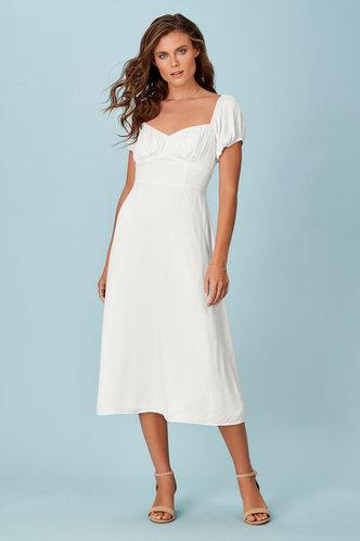 front_Juliette White Midi Dress