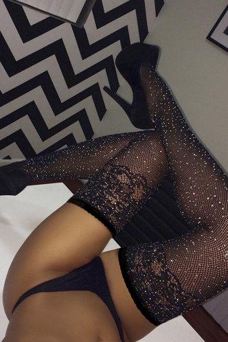 front_Alfy Enid Black Socks 1pair
