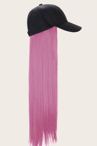 front_Donna Grinhilt Purple Wigs With Hat