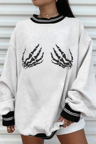 front_Aphrodite Edith White Sweatshirt