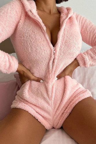 front_Susannah Eartha Baby Pink Loungewear
