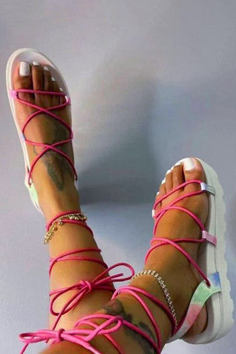 back_Nita Erin Pink Wedge Sandals