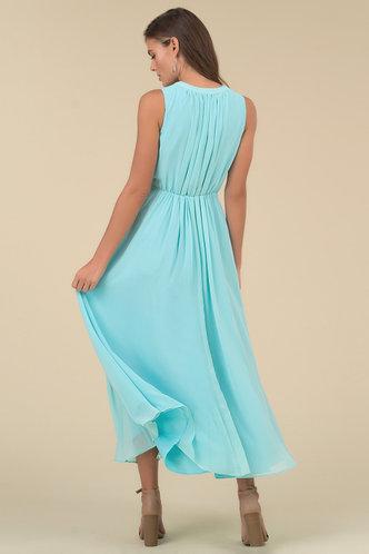 back_Serenity Caribbean Blue Maxi Dress