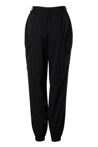 back_Cargo Chic Black Cargo Joggers