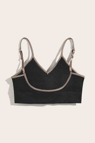 back_Plain Black Bras & Bralettes