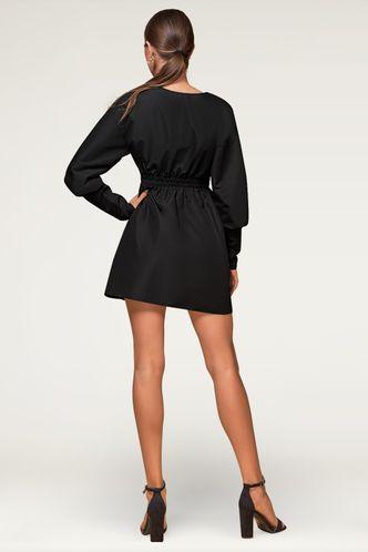 back_Wherever You Go Black Mini Dress