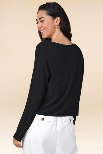 back_You Say {Color} Long Sleeve Top