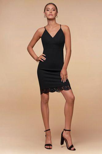 front_The Selection Black Mini Dress