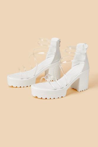 back_Cora Emma White Chunky Heeled Sandals
