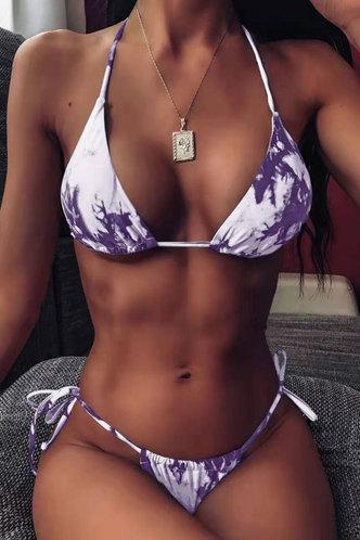 front_Karla Edwina Purple Tie Dye Bikini