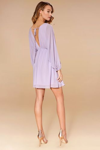 back_Daffodil Light Purple Mini Dress