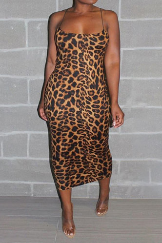 front_Catherine Enid Brown Leopard Print Plus Cami Bodycon Dress