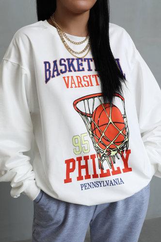 back_Judy Famili White Sweatshirt & Hoody