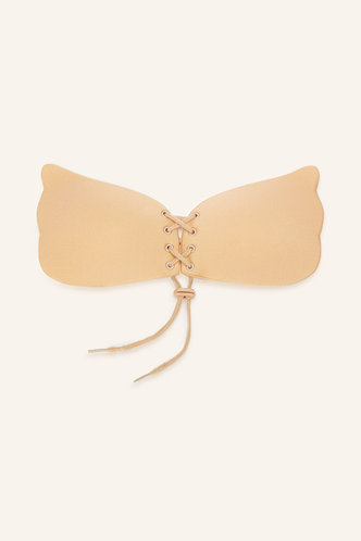 back_Nellie Eartha Apricot 1pack Wing Shaped Adhesive Bra