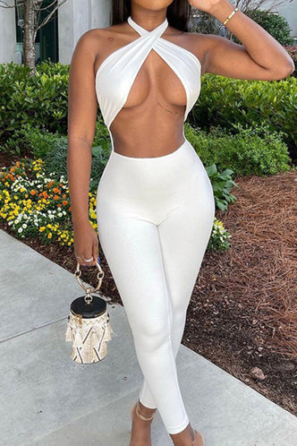 front_Rebecca Eunice White Jumpsuit
