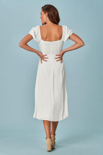 back_Juliette White Midi Dress