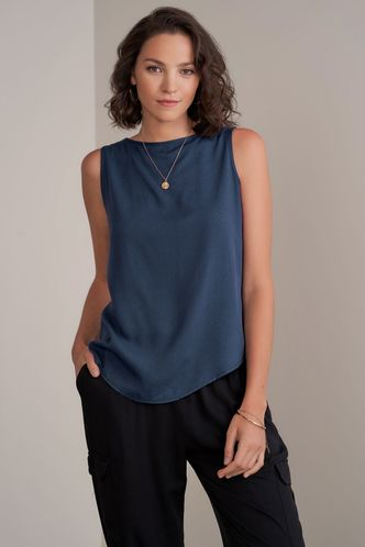 front_Swanky {Color} Sleeveless Top