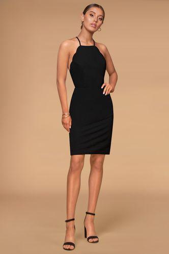front_Spotlight Black Mini Dress