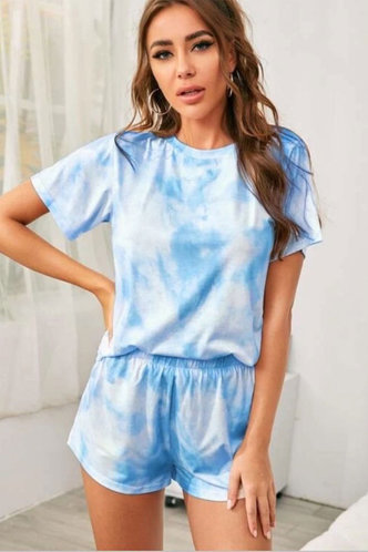 front_Esta Baby Blue Loungewear Sets