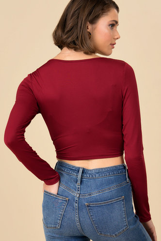 back_Come On Purplish Red Fitted Tee