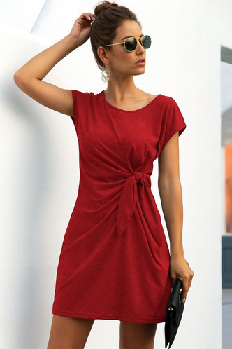 front_Jamie Burgundy Dress