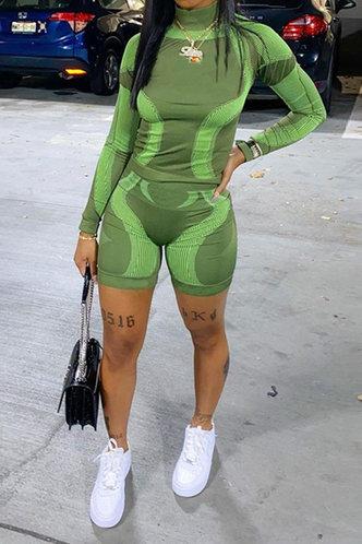 back_Gabrielle Geralan Green Shorts Set
