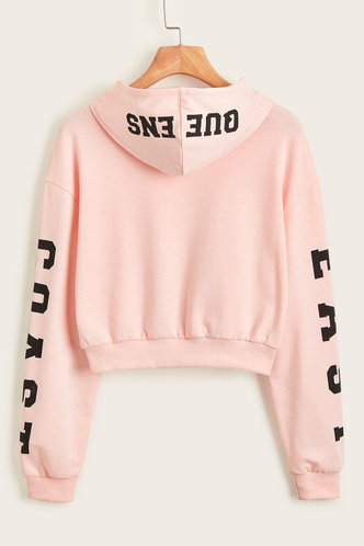 back_Forever Young Pink  Hoodie