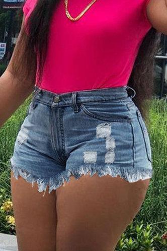 back_Jill Eileen Wash Light Blue Shorts