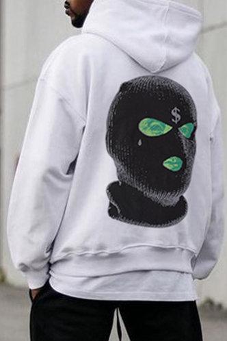 front_Street Graphic White Men Sweatshirts & Hoodies