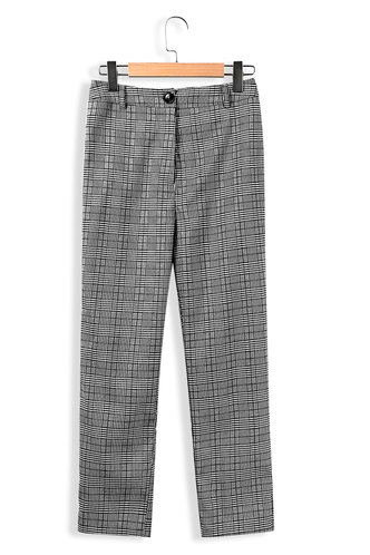 front_Ray Of Light Grey Plaid Pants