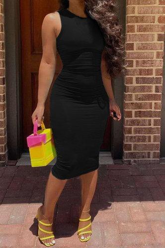 front_Jacquetta Eleanore Black Bodycon Tank Dress