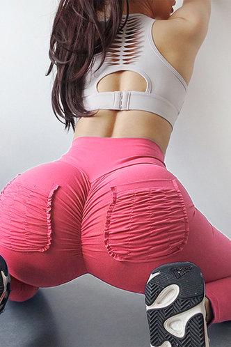 front_Ann Eileen Pink Pocket Leggings