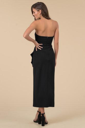 back_Party Sleeveless Black Plain Dresses