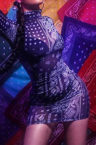 back_Scarlett Evangeline Paisley Print Bodycon Dress