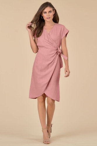 front_Sage {color} Midi Dress