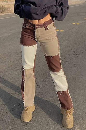 front_Jenifari Brown Jeans