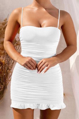 front_Heloise Kradan White Plus Cami Bodycon Dress